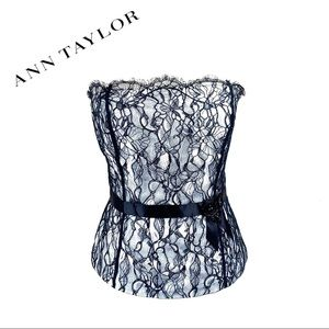 Ann Taylor Lace Bustier Evening Strapless 10 NWT